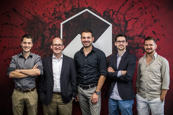 Die PulseShift-Gründer: Michael Dell, David Hoeffler, Martin Müller, Norman Weisenburger, Jascha Quintern